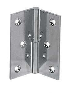Cerniera per porta a battente in ottone cromato 60x50 mm