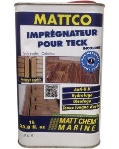 """Imprégnateur teck """"MATTCO"""" Incolore 1 litre"""