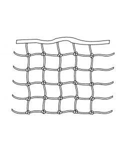 Rete per battagliola con maglie quadrate e annodate H : 0,5 m, il m