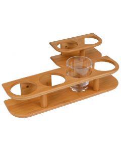 Accessori per interni in Bambù Supporto bicchieri 2 bicchieri