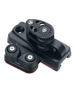 Terminale per rotaie 27 e 32 Modello con bozzello a doppia puleggia/Carbo-Cam cleat 35mm per rotaia 27, 2 pz
