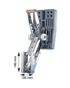 Supporto basculante inox Motore < 20 kg,