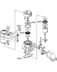 Pompa elettrica per WC RM 69 Annello di tenuta + O-ring