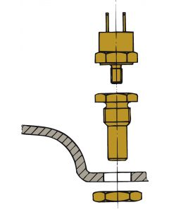Sonda di temperatura motore - Montaggio Waterlock