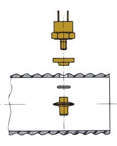 Sensore di temperatura del motore - Montaggio del tubo flessibile