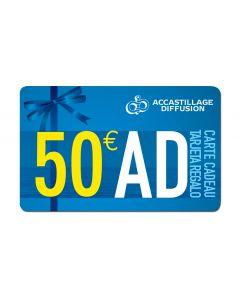 Carte regalo 50 €